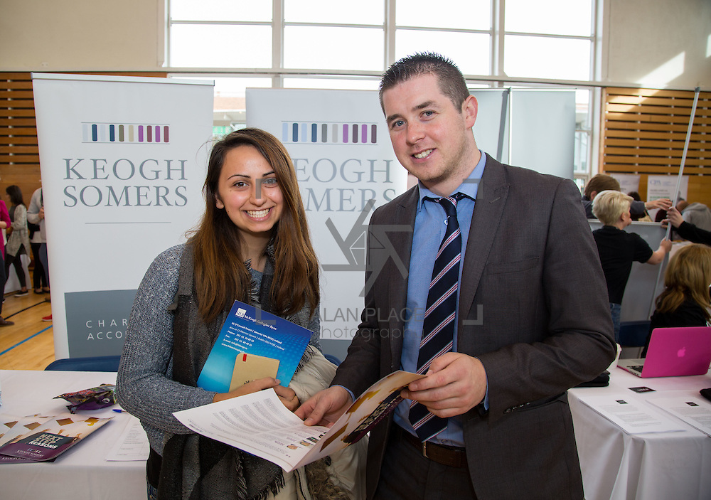 11.10.2016           <br /> Limerick Institute of Technology Careers Fair. Pictured are, Kinga Mscisz, Poland and John Riordan, Keogh Sommers Chartered Accountants. Picture: Alan Place