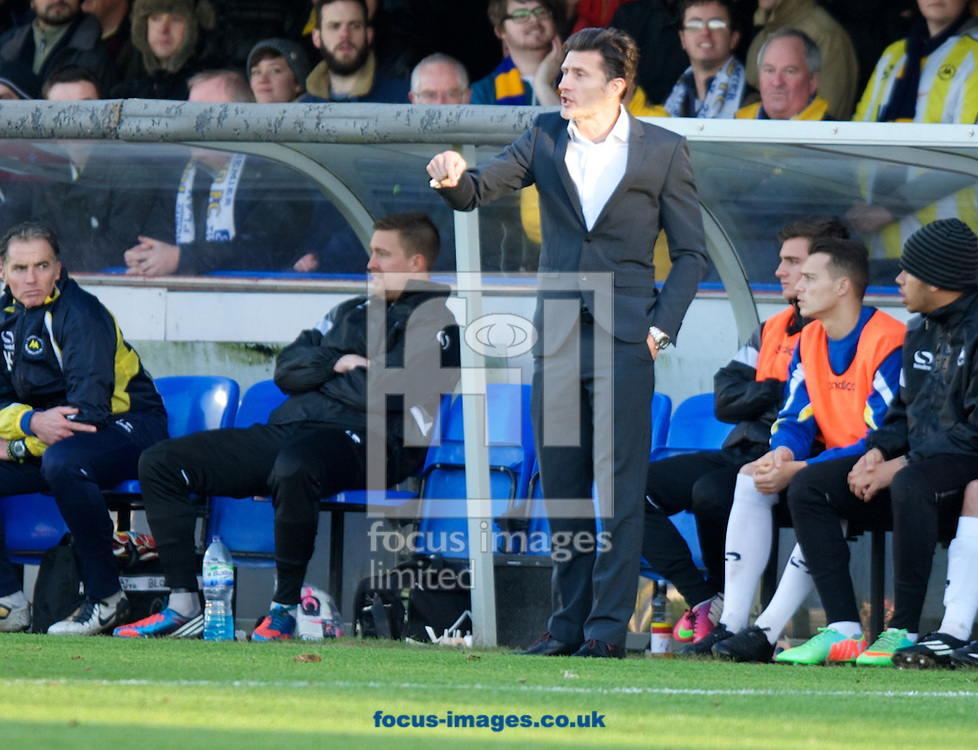 Picture by Alan Stanford/Focus Images Ltd +44 7915 056117<br /> 11/01/2014<br />  Manager Chris Hargreaves of Torquay United during the Sky Bet League 2 match at the Cherry Red Records Stadium, Kingston.