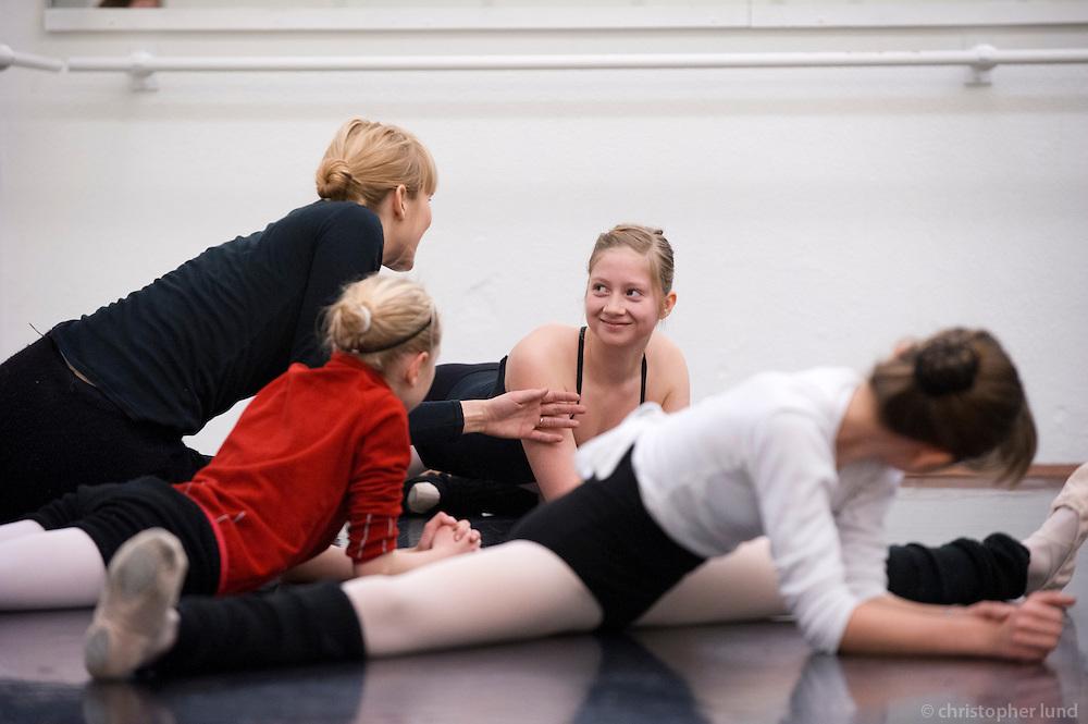 Opinn dagur hjá Bjargey í ballettíma hjá JSB.