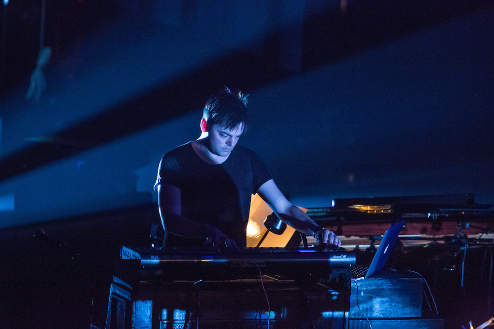 Planetarium, a series of songs composed by Bryce Dessner, Sufjian Stevens, and Nico Muhly at the Brooklyn Academy of Music (BAM). Nico Muhly on keyboard.