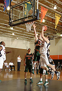 Middletown, NY - Connor Cornine (33) of SUNY Orange takes a shot against Rockland Community College in a Mid-Hudson Conference men's basketball game in Middletown on Feb. 26, 2008.