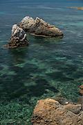 Rocky shore, Tabarca island, Alicante Spain