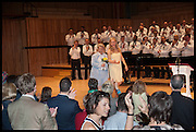 SANDI TOKSVIG BEING GIVEN AWAY BY HER DAUGHTER MEGAN TOKSVIG-STEWART, Sandi  and Debbie Toksvig,  renewing their civil partnership vows at the Royal Festival Hall. London. 29 March 2014.