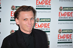 © Licensed to London News Pictures. 25/03/2012. London, England. Jamie Campbell Bower attends the  Jameson Empire Awards held at the Grosvenor Hotel London  Photo credit : ALAN ROXBOROUGH/LNP