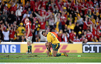 22 June 2013; Kurtley Beale, Australia, after missing a late penalty. British & Irish Lions Tour 2013, 1st Test, Australia v British & Irish Lions, Suncorp Stadium, Brisbane, Queensland, Australia. Picture credit: Stephen McCarthy / SPORTSFILE