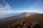 The observatory on top of Haleakala, Maui's giant dormant volcano, at sunrise.