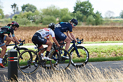 Mieke Kröger (GER), Esther van Veen (NED) and Eri Yonamine (JPN) in the break at Boels Ladies Tour 2018 - Stage 3, a 129km road race in Gennep, Netherlands on August 30, 2018. Photo by Sean Robinson/velofocus.com