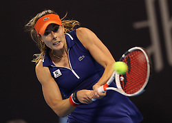 BEIJING, Oct. 2, 2017  Alize Cornet of France returns the ball during the women's singles second round match against Angelique Kerber of Germany at 2017 China Open tennis tournament in Beijing, capital of China, Oct. 2, 2017. Alize Cornet won 2-0.  wll) (Credit Image: © Meng Yongmin/Xinhua via ZUMA Wire)