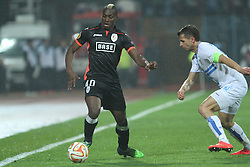 27.11.2014, Stadium Kantrida, Rijeka, CRO, UEFA EL, HNK Rijeka vs FC Standard Liege, Gruppe G, im Bild Paul-Jose Mpoku, Anas Sharbini // during the UEFA Europa Lduring the UEFA Europa League group G match between HNK Rijeka and FC Standard Liege at the Stadium Kantrida in Rijeka, Croatia on 2014/11/27. EXPA Pictures © 2014, PhotoCredit: EXPA/ Pixsell/ Nel Pavletic<br /> <br /> *****ATTENTION - for AUT, SLO, SUI, SWE, ITA, FRA only*****