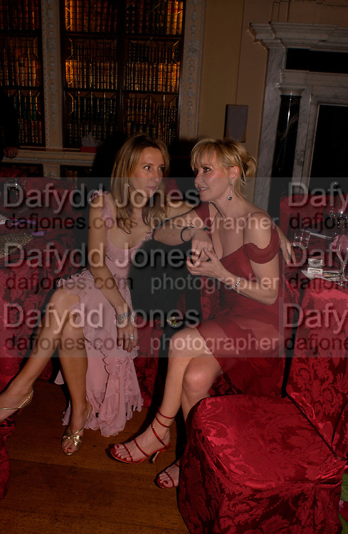 Sam Taylor Wood and Lulu, Ball at Blenheim Palace in aid of the Red Cross, Woodstock, 26 June 2004. SUPPLIED FOR ONE-TIME USE ONLY-DO NOT ARCHIVE. © Copyright Photograph by Dafydd Jones 66 Stockwell Park Rd. London SW9 0DA Tel 020 7733 0108 www.dafjones.com