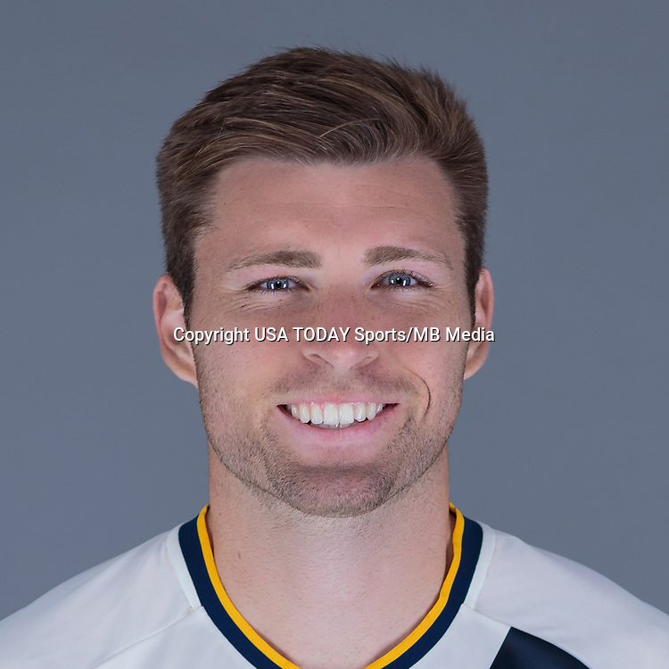 Feb 25, 2016; USA; LA Galaxy player Dave Romney poses for a photo. Mandatory Credit: USA TODAY Sports