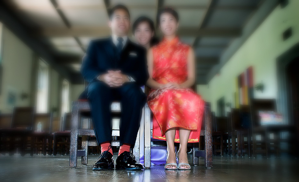 Charles' red socks match Daphina's traditional dress. Captured during family formals after the tea ceremony.