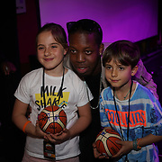 London,England,UK. 14th May 2017. Sports personal and celebrities attends the after party of the BBL Play-Off Finals also fundraising for Hoops Aid 2017 but also a major fundraising opportunity for the Sports Traider Charity at London's O2 Arena, UK. by See Li
