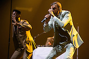 Photos of Jidenna performing live at Madison Square Garden, NYC. October 1, 2015. Copyright © Matthew Eisman. All Rights Reserved