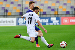 Luka Zahovic of NK Maribor vs. Ziga Kous of NS Mura during football match between NK Maribor and NS Mura in 2nd Round of Prva liga Telekom Slovenije 2018/19, on July 29, 2018 in Ljudski vrt, Maribor, Slovenia. Photo by Mario Horvat / Sportida