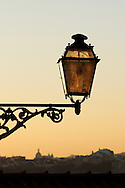 Traditional lamp at Lisbon's old quarters