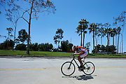 SO Poland athlete Pawel Gasiorowski competes at cycling competition during seventh day of the Special Olympics World Games Los Angeles 2015 on July 31, 2015 at Aquarium Way of Long Beach  in Los Angeles, USA.<br /> <br /> USA, Los Angeles, July 31, 2015<br /> <br /> Picture also available in RAW (NEF) or TIFF format on special request.<br /> <br /> For editorial use only. Any commercial or promotional use requires permission.<br /> <br /> Adam Nurkiewicz declares that he has no rights to the image of people at the photographs of his authorship.<br /> <br /> Mandatory credit:<br /> Photo by &copy; Adam Nurkiewicz / Mediasport