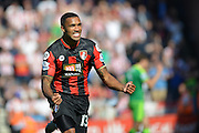 AFC Bournemouth's striker Callum Wilson celebrates his goal during the Barclays Premier League match between Bournemouth and Sunderland at the Goldsands Stadium, Bournemouth, England on 19 September 2015. Photo by Mark Davies.