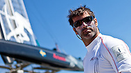PORTUGAL, Cascais. 7th August 2011. America's Cup World Series. Day 2. Julien Cressant, ARTEMIS RACING.