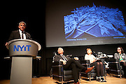 """Tom Glendening, President, E3think, moderator for the panel, """"Nanjing to Nairobi to New York, the State of the City."""" Manhattan Chamber of Commerce's Transportation Transformation Global Summit at NYIT in New York on April 26, 2012."""