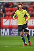 Blackburn Rovers defender Paul Downing (25) warming up prior to the EFL Sky Bet League 1 match between Charlton Athletic and Blackburn Rovers at The Valley, London, England on 28 April 2018. Picture by Toyin Oshodi.