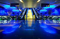 UNITED ARAB EMIRATES, DUBAI - CIRCA JANUARY 2017: Burjuman Metro Station in Dubai.