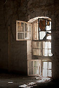Interior of the old French Military hospital. near the waterfront of Port Louis.