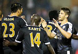 Andrej Kramaric of Leicester City celebrates after scoring his sides second goal - Mandatory byline: Matt McNulty/JMP - 07966386802 - 25/08/2015 - FOOTBALL - Gigg Lane -Bury,England - Bury v Leicester City - Capital One Cup - Second Round