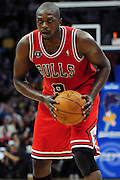 April 8, 2011; Cleveland, OH, USA; Chicago Bulls small forward Luol Deng (9) looks for a pass during the third quarter against the Cleveland Cavaliers at Quicken Loans Arena. The Bulls beat the Cavaliers 93-82. Mandatory Credit: Jason Miller-US PRESSWIRE