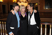TREVOR NUNN; JOANNA LUMLEY; ROBERT LINDSAY, Party following the Theatre Royal press night performance of The Lion in Winter , The Institute of Directors. London. 15 November 2011. <br /> <br />  , -DO NOT ARCHIVE-© Copyright Photograph by Dafydd Jones. 248 Clapham Rd. London SW9 0PZ. Tel 0207 820 0771. www.dafjones.com.