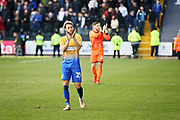 Mansfield Town midfielder Jorge Grant claps the fans after the EFL Sky Bet League 2 match between Notts County and Mansfield Town at Meadow Lane, Nottingham, England on 16 February 2019.