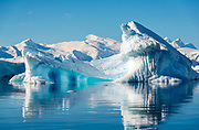 Blue iceberg at Cuverville Island, Errera Channel, on the western side of the Antarctic Peninsula