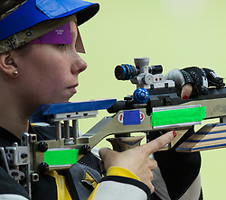 04.08.2012, Royal Artillery Barracks, London, GBR, Olympia 2012, Schiessen, 50m Kleinkalibergewehr, 3 Positionen, Damen, im Bild Stephanie Obermoser (AUT) // Stephanie Obermoser (AUT) during 50m Rifle 3 Positions Women at the 2012 Summer Olympics at the Royal Artillery Barracks, London, United Kingdom on 2012/08/04. EXPA Pictures © 2012, PhotoCredit: EXPA/ Johann Groder