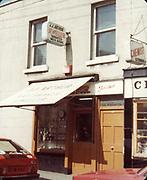 Old Dublin Amature Photos April 1984 WITH, <br /> Smithfield, Blackhall St, Kings Inns, Hill St, Temple St, Sallynoggin, R.C. Buckingham St, Chaplezord, Demolished Cottage Clonsilla, car, JJ Arthur Jewellers, Chemist, Fiat 128p car,