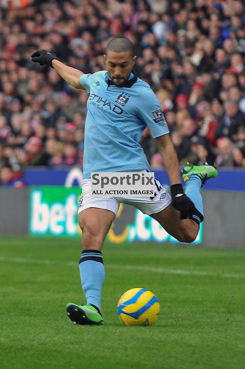 Clichy puts in a cross Stoke City v Man City FA Cup Britania 29 January 2013 (c) Dave Moore | StockPix.eu