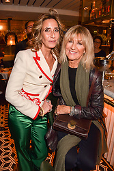 Left to right, Tara Bernerd and Christine McVie at a party to celebrate the publication of Place by Tara Bernerd held at il Pampero at The Hari, 20 Chesham Place, London, England. 8 March 2017.