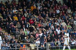 Falkirk fans.<br /> Dumbarton 1 v 1 Falkirk, Scottish Championship 10/8/2013.<br /> &copy;Michael Schofield.