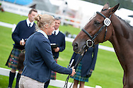 Izzy Taylor (GBR) &amp; KBIS Briarlands Matilda<br /> - First Horse Inspection - Longines FEI European Eventing Championships - Blair Castle, Scotland - 09 September 2015