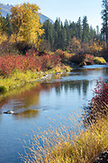Sanpoil River in autumn, Colville Indian Reservation, Washington.