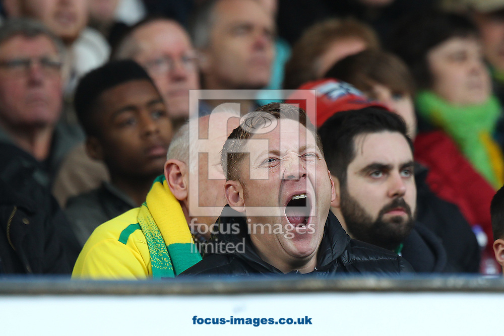 A traveling Norwich fan can't stifle a huge yawn as he watches his side fall behind by two goals during the Sky Bet Championship match at Hillsborough, Sheffield<br /> Picture by Paul Chesterton/Focus Images Ltd +44 7904 640267<br /> 04/03/2017