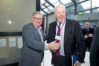 27/01/2014 John Daly from Five Sciences and Bobby Kerr Celebrity judge at the SCCUL Enterprise awards at the Bailey Allen Hall NUIG. Photo:Andrew Downes