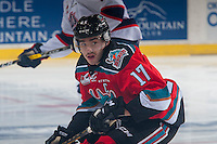 KELOWNA, CANADA - NOVEMBER 26: Rodney Southam #17 of the Kelowna Rockets skates against the Regina Pats on November 26, 2016 at Prospera Place in Kelowna, British Columbia, Canada.  (Photo by Marissa Baecker/Shoot the Breeze)  *** Local Caption ***