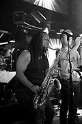 Hip hop / jazz ensemble The Megaphones, live in Nashville, TN