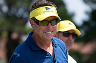 Robert Allenby (AUS) smiles at Day 1 of The Emirates Australian Open Golf at The Lakes Golf Club in Sydney, Australia.