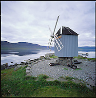 An old Windmill at island Vigur in Isafjarðardjúp, Súðavíkurhreppur. Gamla vindmillan á Vigur í Ísafjarðardjúpi, Súðavíkurhreppur.<br />