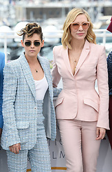 Kristen Stewart and Cate Blanchett attending the photocall for The Jury at the Palais De Festival, part of the 71st Cannes Film Festival. Photo credit should read: Doug Peters/EMPICS
