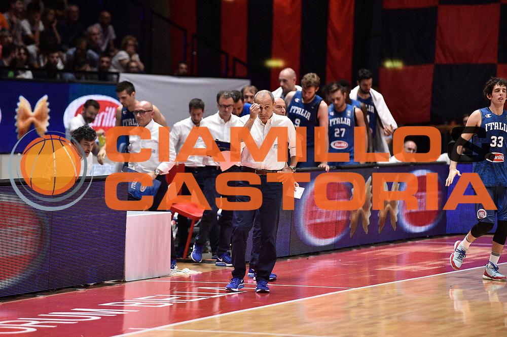 DESCRIZIONE: Biella Gran Gala' del basket - Italia - Portorico<br /> GIOCATORE: Ettore Messina<br /> CATEGORIA: Nazionale Italiana Maschile Senior<br /> GARA: Biella Gran Gala' del basket - Italia - Portorico<br /> DATA: 30/06/2016<br /> AUTORE: Agenzia Ciamillo-Castoria