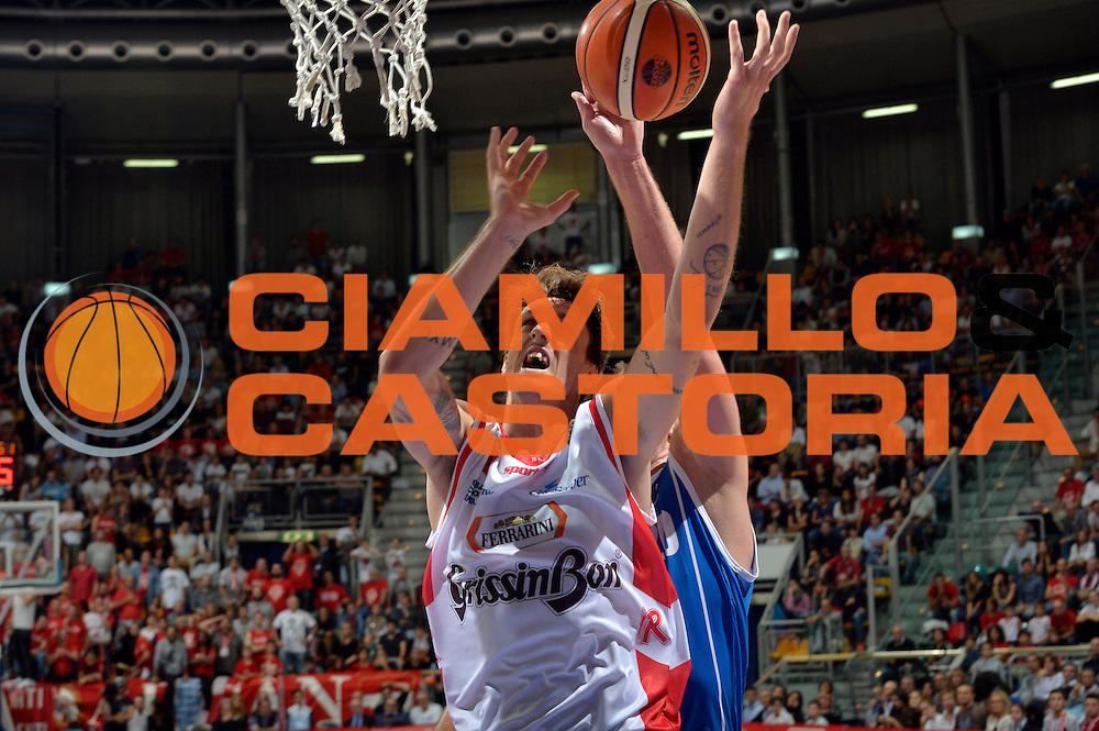 Achille Polonara<br /> Grissin Bon Pallacanestro Reggio Emilia - Banco di Sardegna Dinamo Sassari<br /> Lega Basket Serie A 2016/2017<br /> Bologna, 08/10/2016<br /> Foto Ciamillo-Castoria
