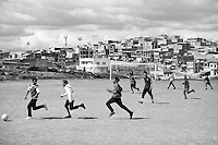 In May 2013, a football game is organised by the non-profit Colombianitos to help promote peace and education to the youngs in the marginal neighborhood of Ciduade Bolivar in Bogota, Colombia.
