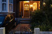 The front path and doorstep of an Edwardian-era home in a residential south London street in early evening, 7th August 2020, in Lambeth, London, England.